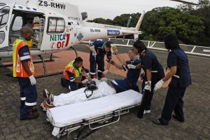 Paramedics airlift Comrades runner for treatment
