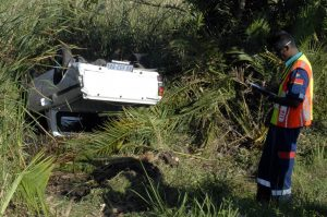Vehicle occupants escape watery death next to N2