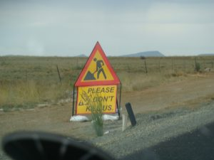 Safe driving required near road construction zones