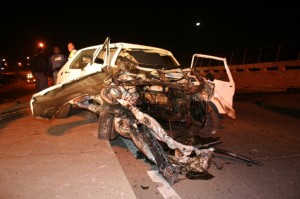1 Killed, 3 others injured as truck jack-knifes following head-on collision in Alexandra