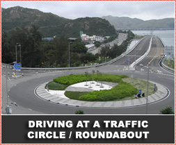 Who has right of way at a traffic circle?