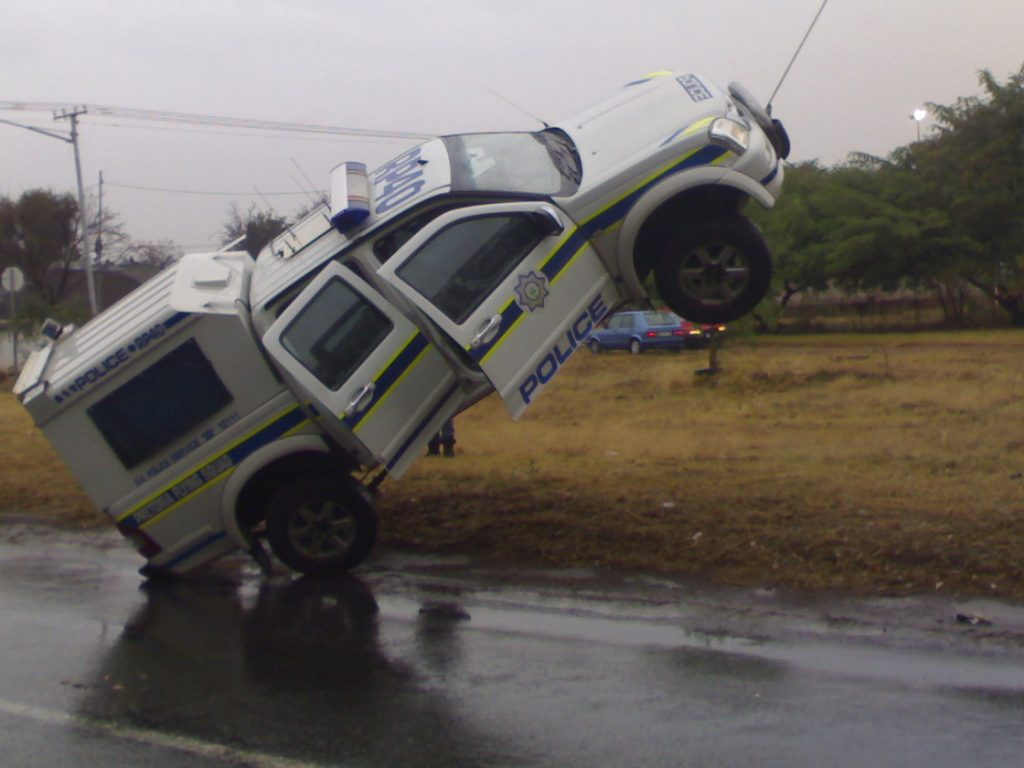 Police vehicle caught getting airborne!!