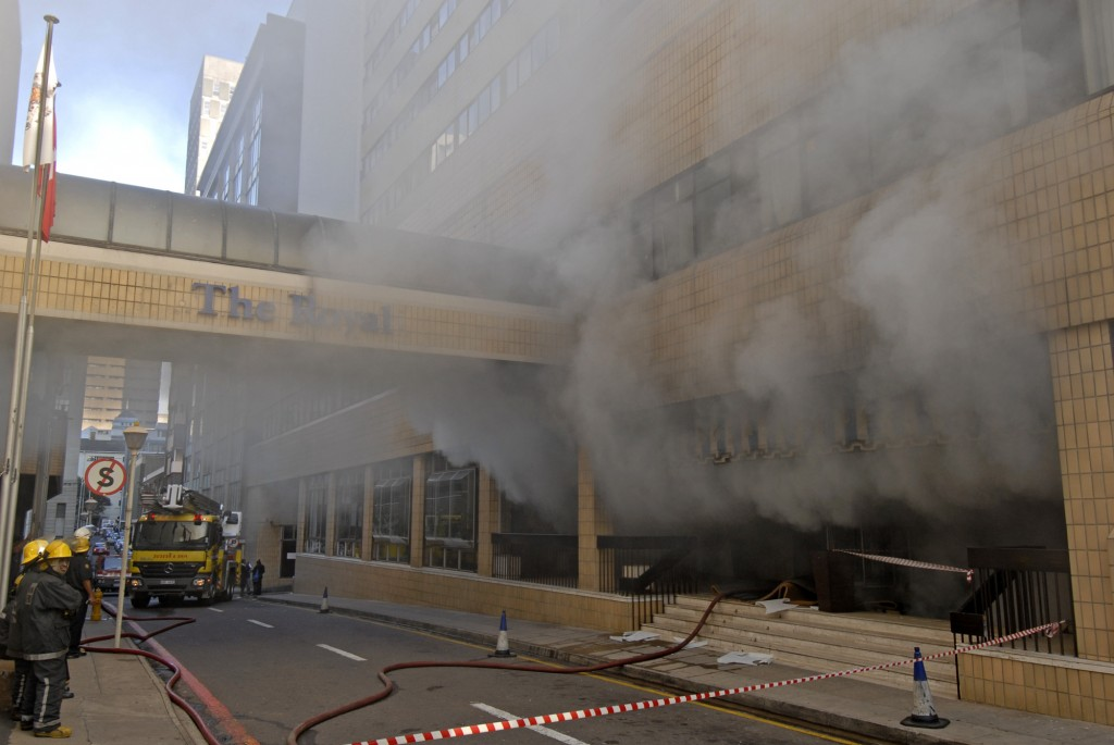 British Lions supporters evacuated after fire at Royal Hotel