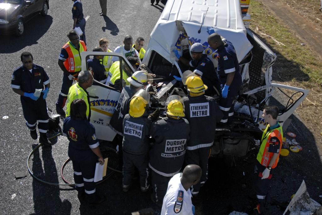 Delivery van in horrific accident