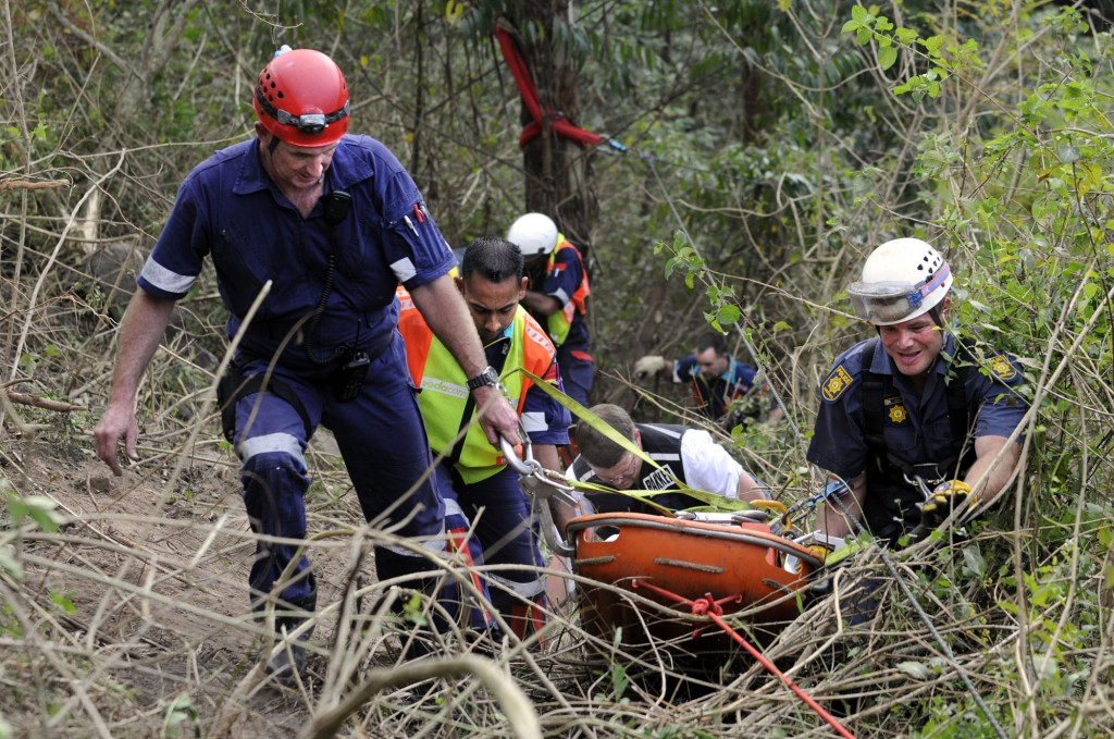 SAPS members survive as vehicle plunges over cliff at Marian Hill