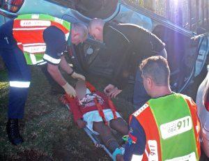 School children injured as vehicle overturns in accident