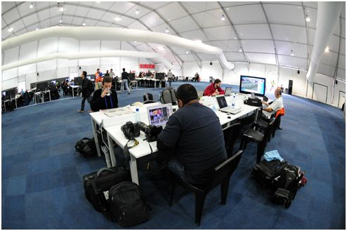 Sports photographers positive about Confed Cup and media facilities!