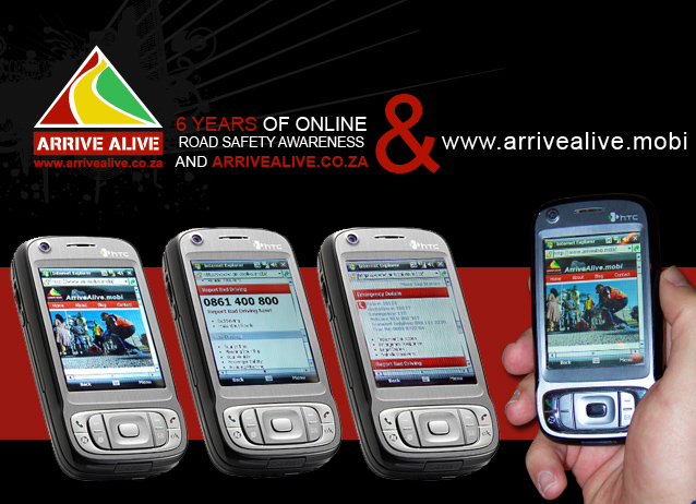 New mobile road safety website launched at ArriveAlive.mobi!!