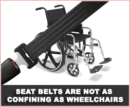 How do you punish a 5 year old for not wearing a seat belt?