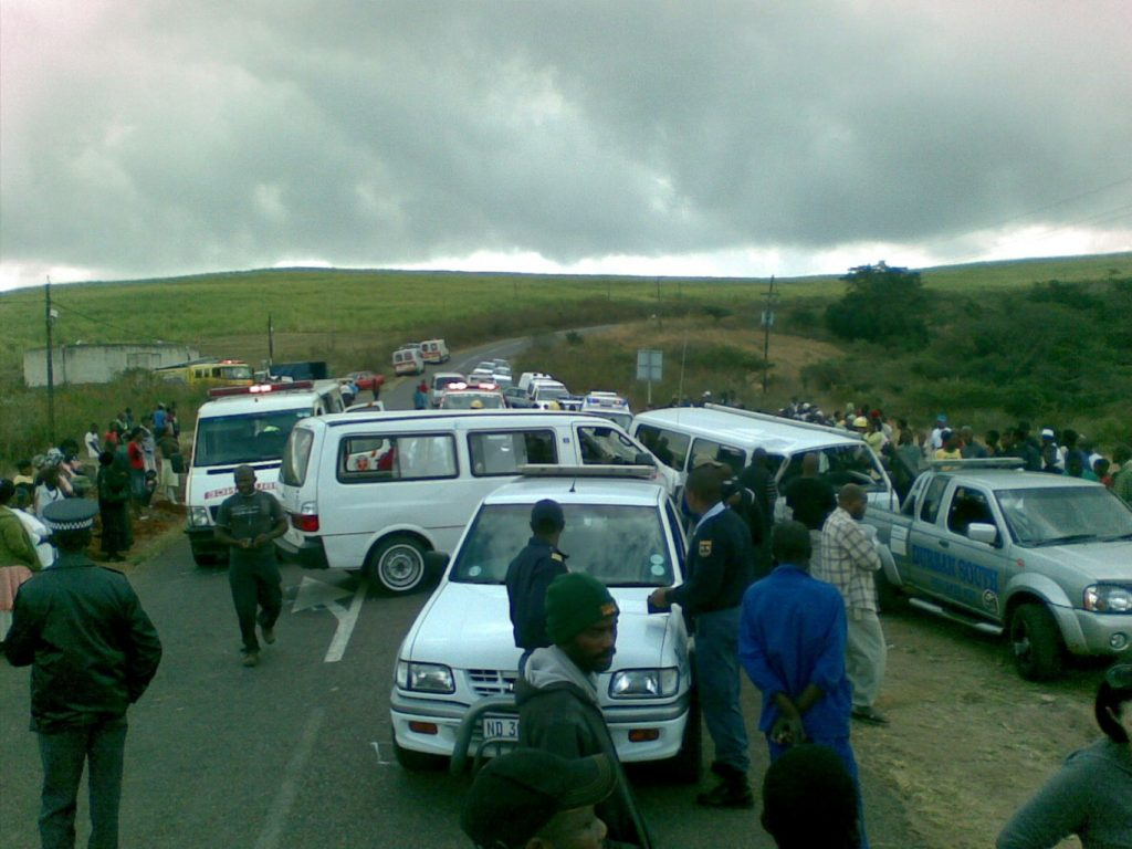 Head-on collision in Shongweni