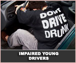 Why do younger drunk drivers pose a greater risk on the road?