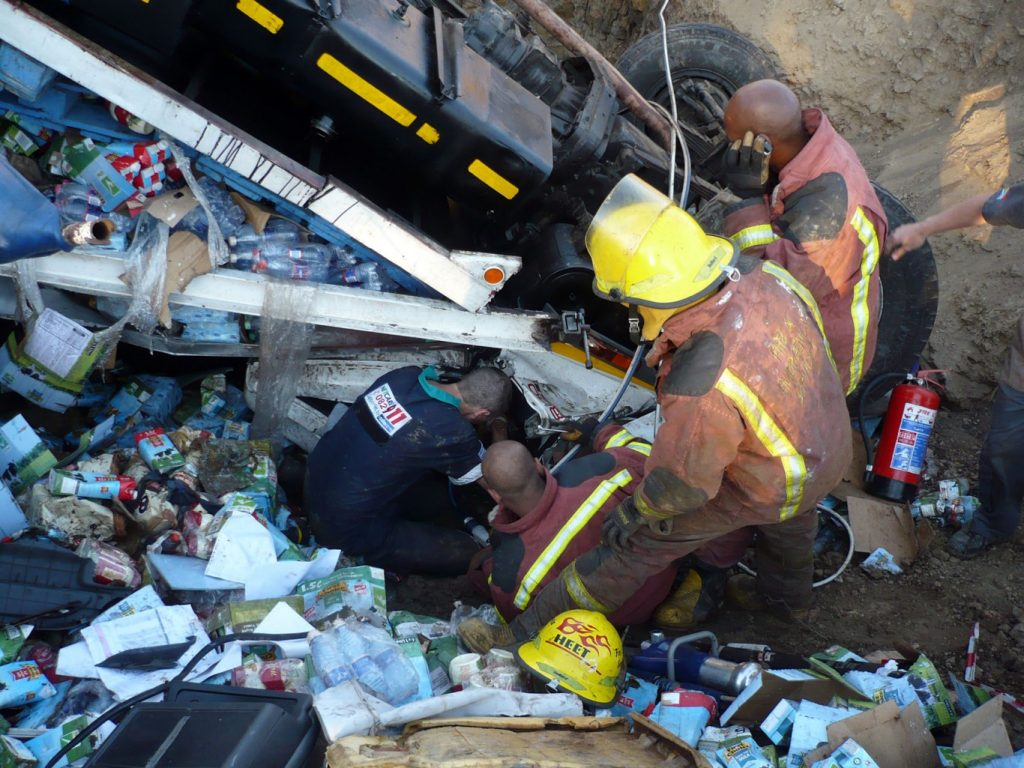 Milk Truck accident on N2 near Salt Rock