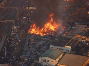 Large fire destroys most of informal settelment in Jeppestown