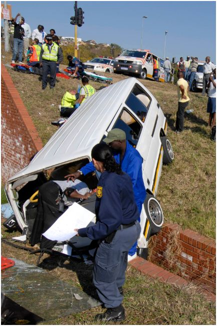 Taxi accident in Newlands West