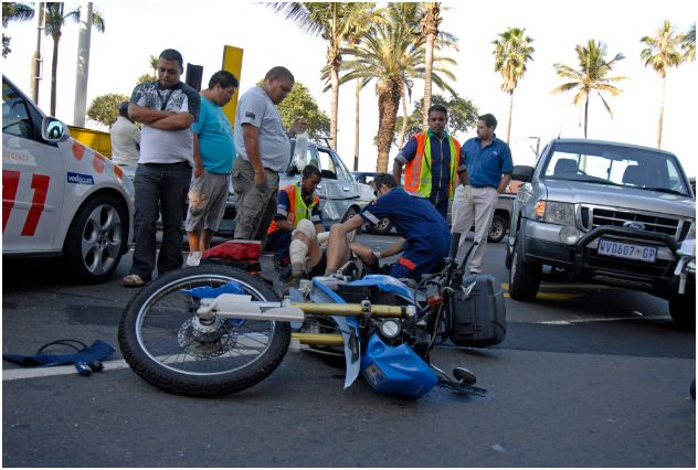 Motorcycle accident in Durban