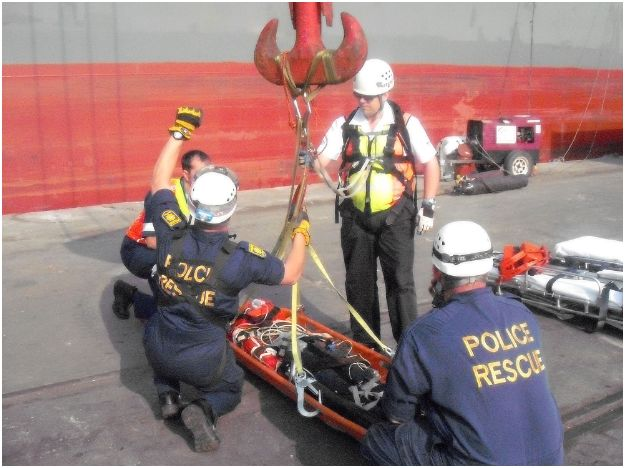 Two men seriously injured in shipping accident