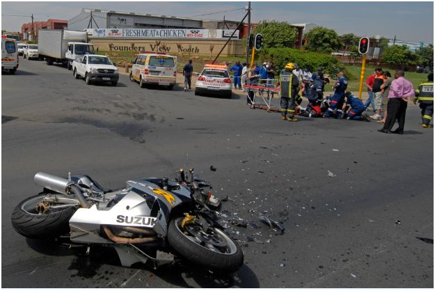 Bike rider in critical condition after Modderfontein Road accident