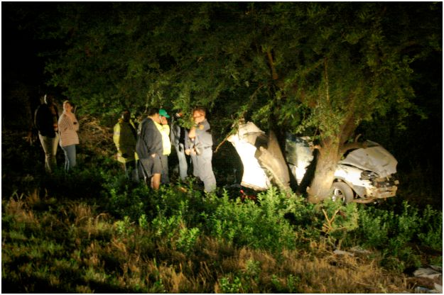 Fatal accident in Bloemfontein as car wraps around tree