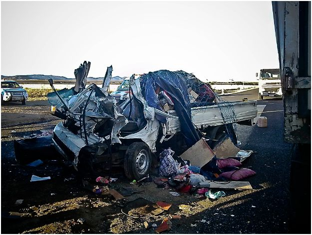 Horrific accident at roadworks on N1 near Gariep