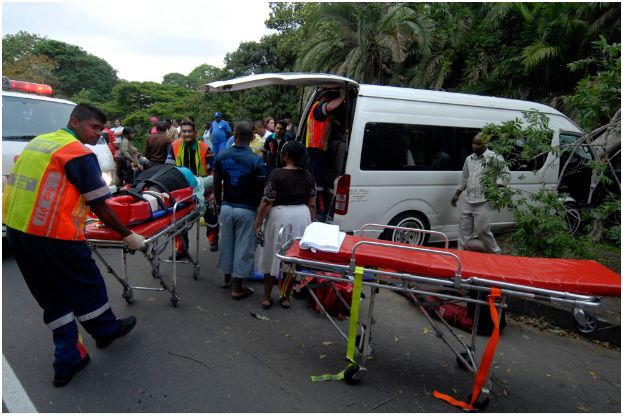 Two people seriously injured in taxi accident