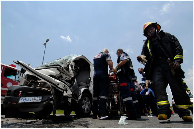 Seven people seriously injured in Modderfontein road accident
