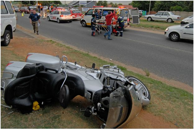 Motorcyclist critical after accident at Kempton Park intersection