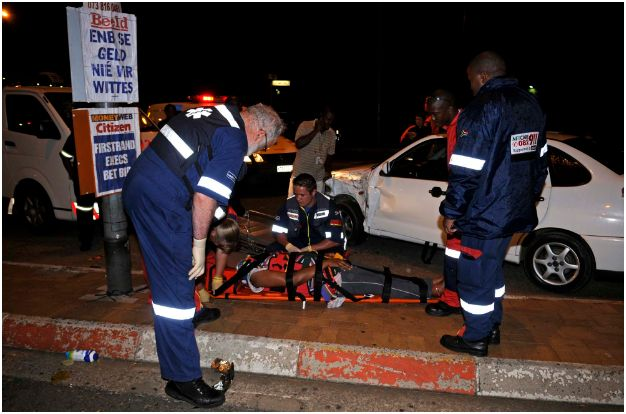 Kempton Park accident after vehicle skips traffic light