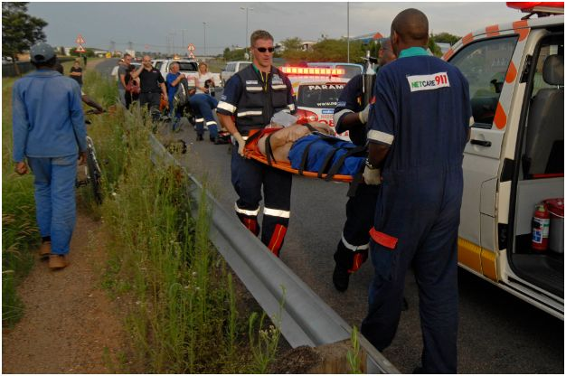 Biker seriously injured in Kempton Park accident