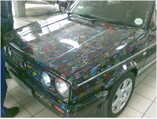 Photos of last Citi Golf manufactured and signed in SA