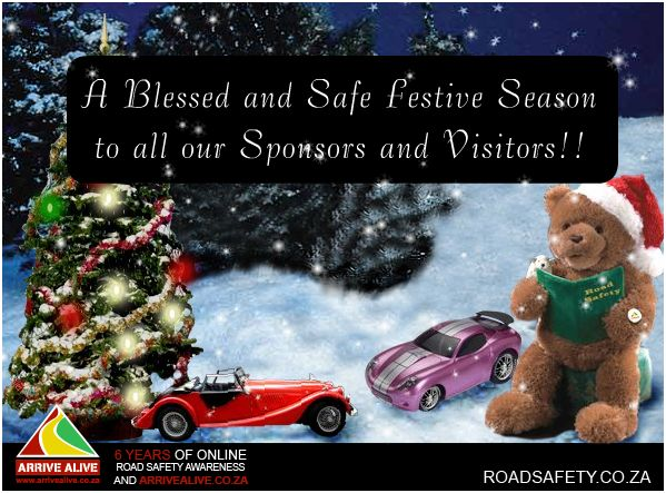 Arrive Alive Road Safety Tips for Festive Season 2009