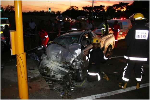 Police chase collision kills one, injures three
