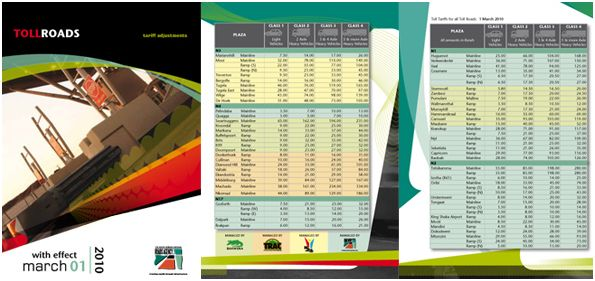 New Toll Fees in South Africa