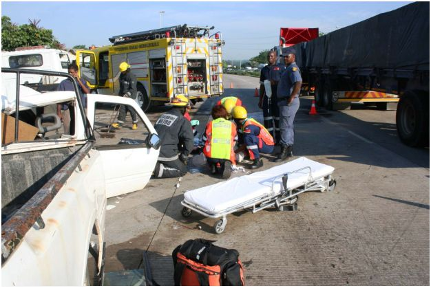 Truck collision leaves five injured, one man critically
