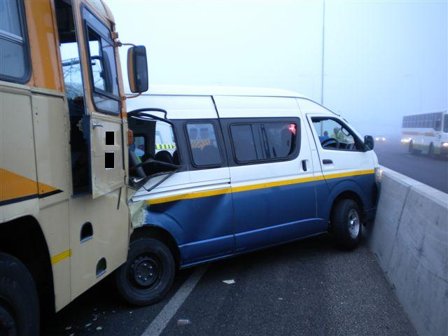 Taxi and Bus collide