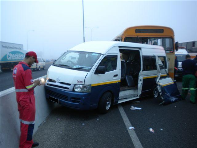 Taxi in accident