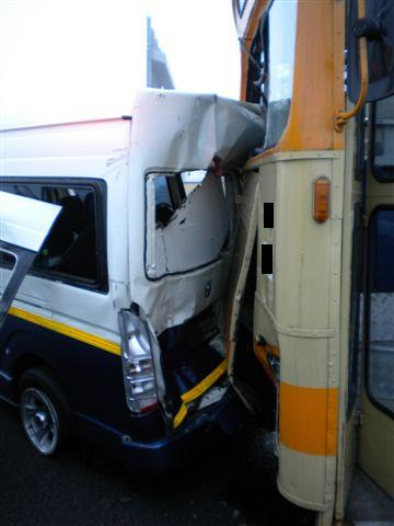 21 Injured After Bus and Taxi Collide