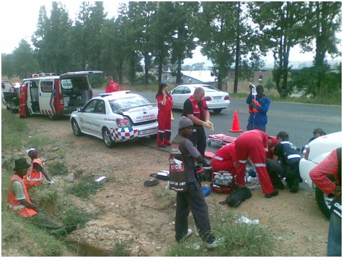 Road worker in Hit and Run in Fourways