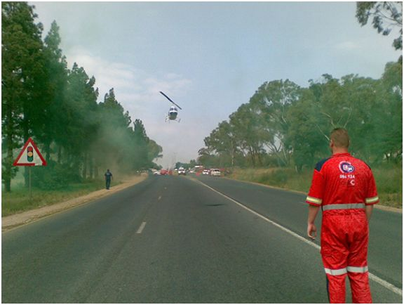 Helicopter Evacuation in Fourways