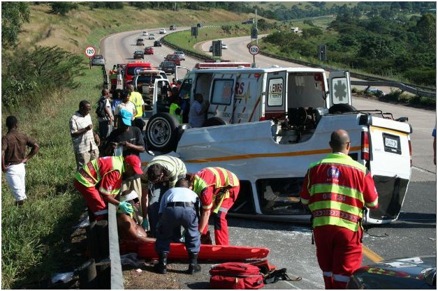 Taxi accident on N3