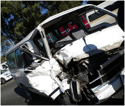 Taxi and truck collide on off ramp at Grayston Drive