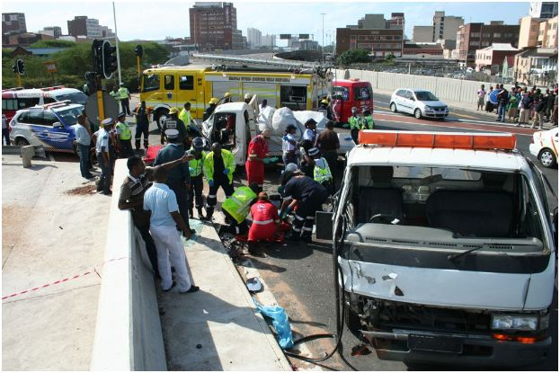 Serious injuries after accident in Durban CBD