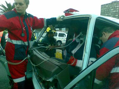 12 Injured After Taxi Crashes into back of Truck