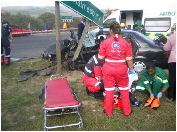 Four Unjured in N7 Crash