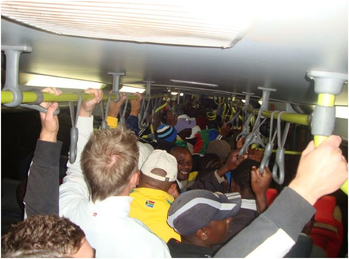 Rea Vaya BRT system on route to Football / Photo by Chris Botes