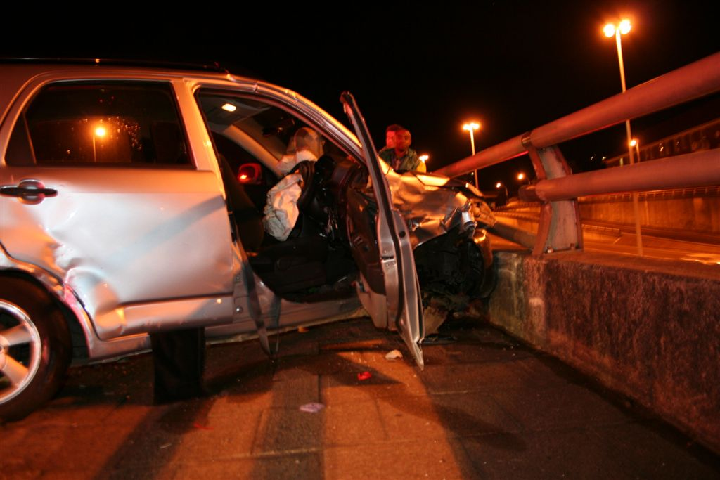 Taxi Goes Over 6m Edge at Manning Road Intersection