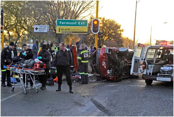 18 injured in JHB taxi accident
