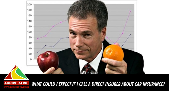 What could I expect if I call a direct insurer about car insurance?