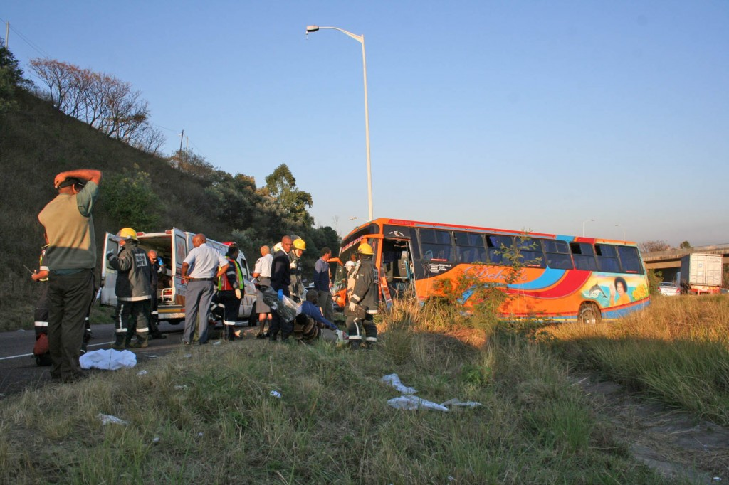 Bus smash leaves thirty five injured on M19