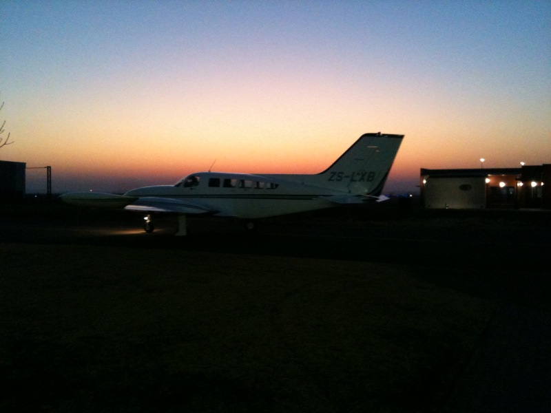 Departure at 6h35 in Bloemfontein
