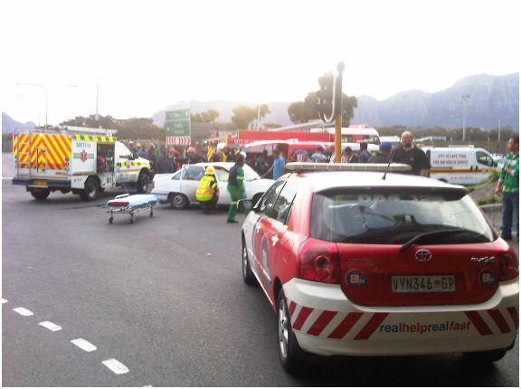 Four Injured In Two Vehicle Collision in Cape Town